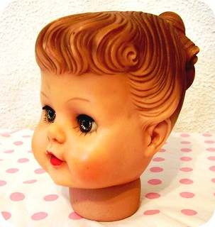 vintage rubber doll head