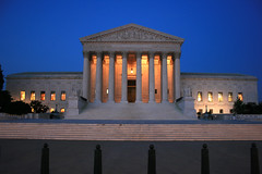 US Supreme Court by night