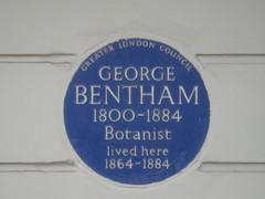 Photo of George Bentham blue plaque