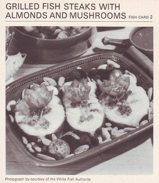 Grilled Fish Steaks With Almond And Mushrooms | Flickr - Photo Sharing ...