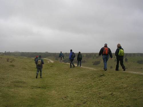 Along the ramparts, St Catherine's Hill