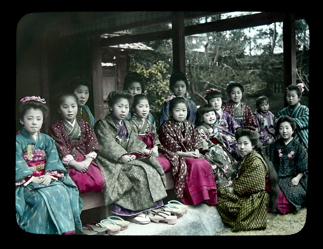 A GIRLS LIFE IN OLD JAPAN -- Dressed in their Best Kimonos