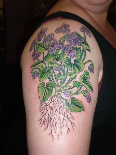 auntie em 39 s tattoos violets tattoo. Black Bedroom Furniture Sets. Home Design Ideas