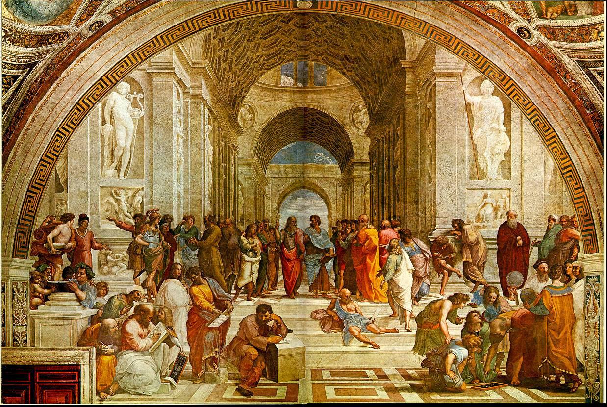La escuela de Atenas, de Rafael.