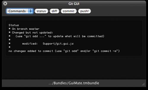 GuiMate 1 6 Git GUI by Thomas Aylott / subtleGradient   Flickr