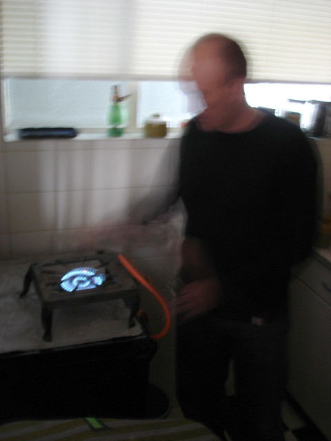 Sean O'Toole and the provided gas cooker