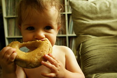 baby and bagel