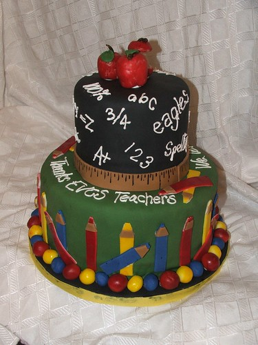 Teacher Appreciation Cake by Cake Chicks!