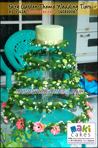 Fairy Garden Theme Wedding Tiers Maki Cakes