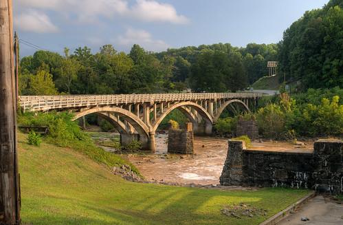 bridge river landscape virginia hdr martinsvillevirginia zd 1260mm