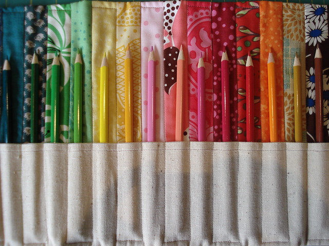 completed pencil roll