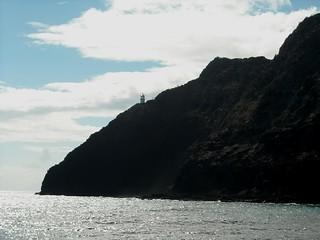 Image of Makapuu Point Lighthouse near Waimānalo Beach. lighthouse oahu makapuupoint