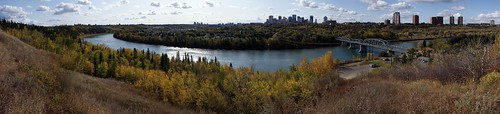 city panorama fall river cityscape edmonton view wide alberta 2008 northsaskatchewan