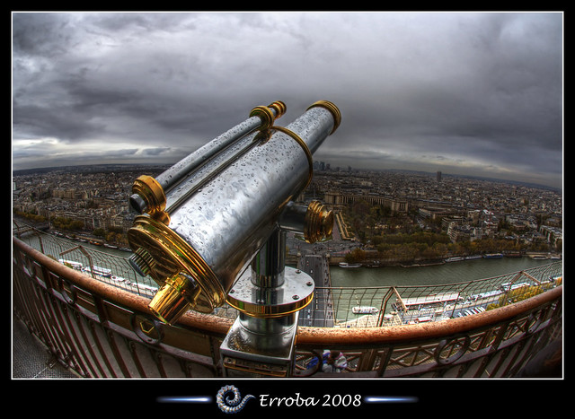Take a look, Eiffel tower, Paris, France :: Fisheye :: HDR