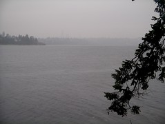 rain showers over Lake Washington