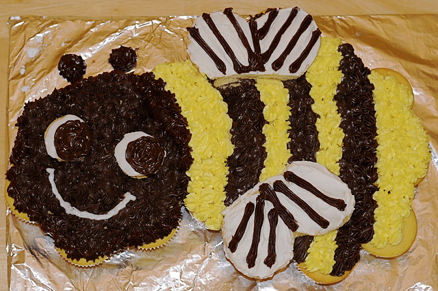 Bumble Bee Birthday Cake Toppers
