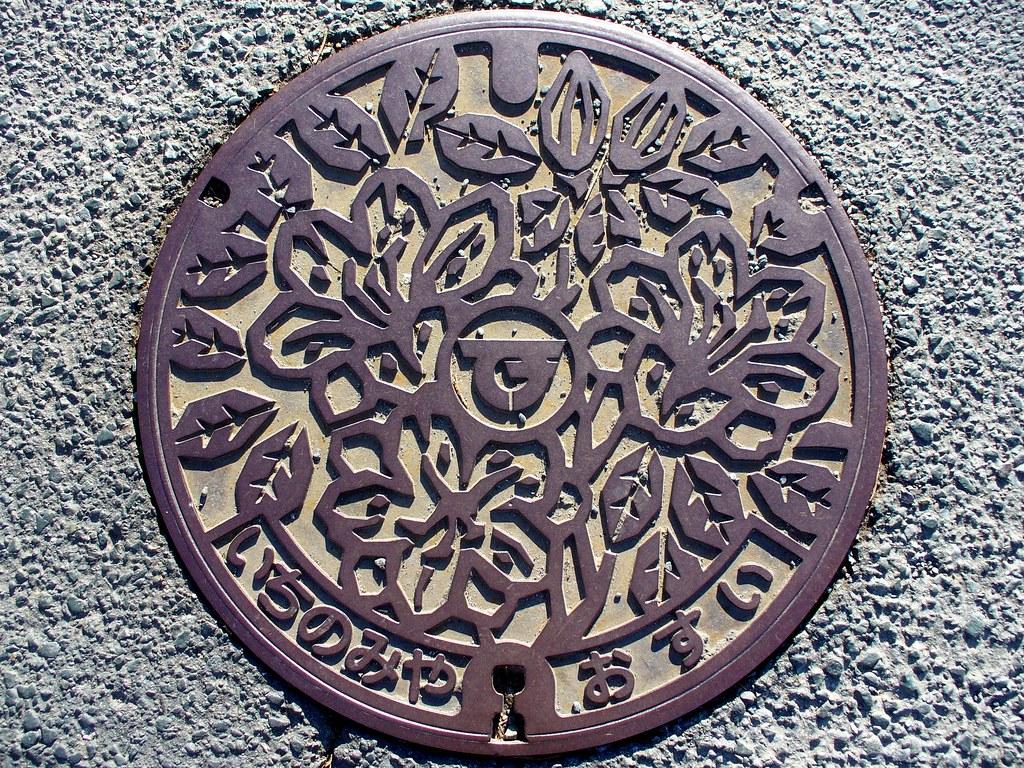 Ichinomiya town,Aichi pref manhole cover2???????????????