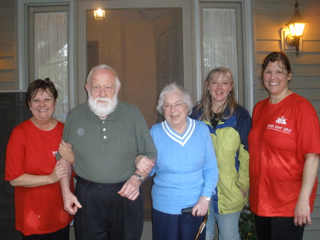 Laurie, My Parents, Me, and Belinda on Red Day