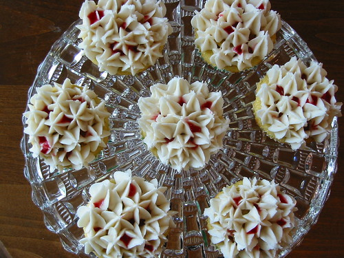 Rhubarb Cornmeal Cupcakes with Cardamom Frosting 5
