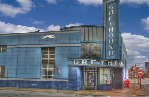 Retro Greyhound Bus Station