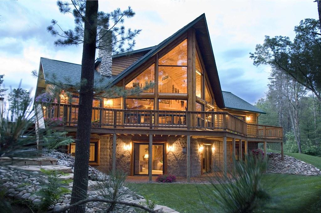 Log Cabin By Golden Eagle Log Homes Flickr Photo Sharing