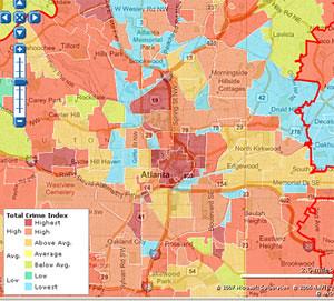 Atlanta Crime Map  Flickr  Photo Sharing