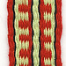 red and green inkle weaving 56 inches