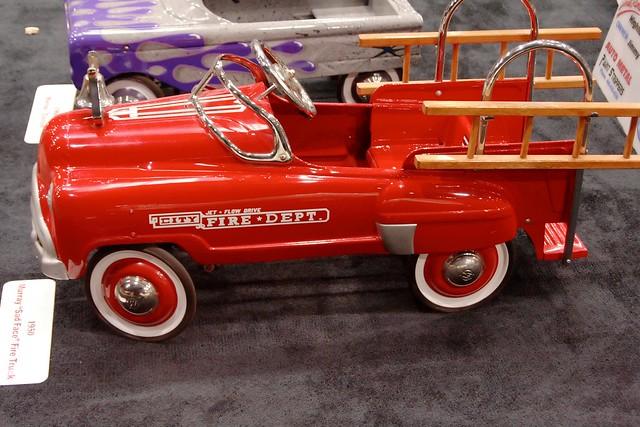 "Fire Truck Pedal Car: Murray ""Sad Face"" Fire Truck Pedal Car - View #4"