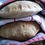 Country-style whole-wheat pita