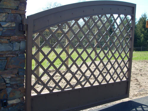 Aluminum Driveway Gate Aluminum Driveway Gate With Flat