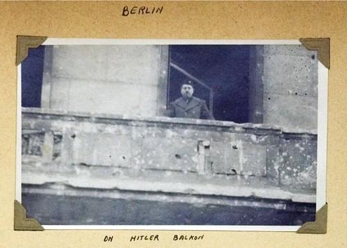 Historian Koppel Pinson On Hitler's Balcony (Berlin, 1946)