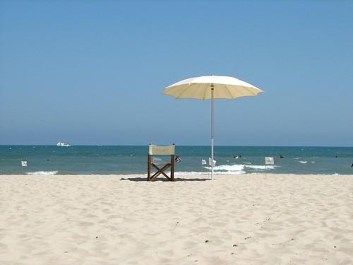 il regista della spiaggia alla...spiaggia del Regista