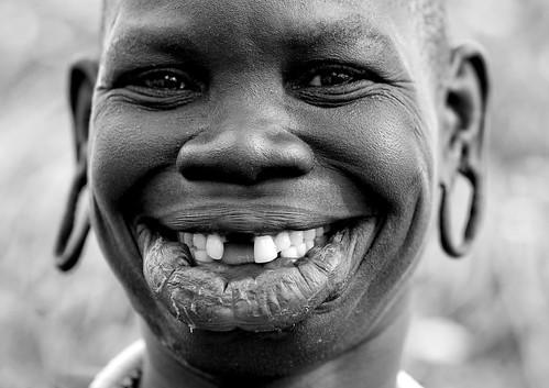 A Surma smile Ethiopia