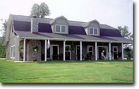 Gambrel roof barn house flickr photo sharing for Gambrel roof pole barn plans