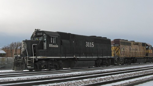 Former Illinois Central and Wisconsin Central locomotives acquired by Canadian National through merger. Franklin Park Illinois. December 2008. by Eddie from Chicago