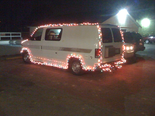 Christmas Lights on a Van