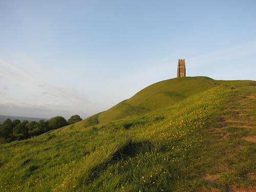 Glastonbury tor sunset by jackiesjottings