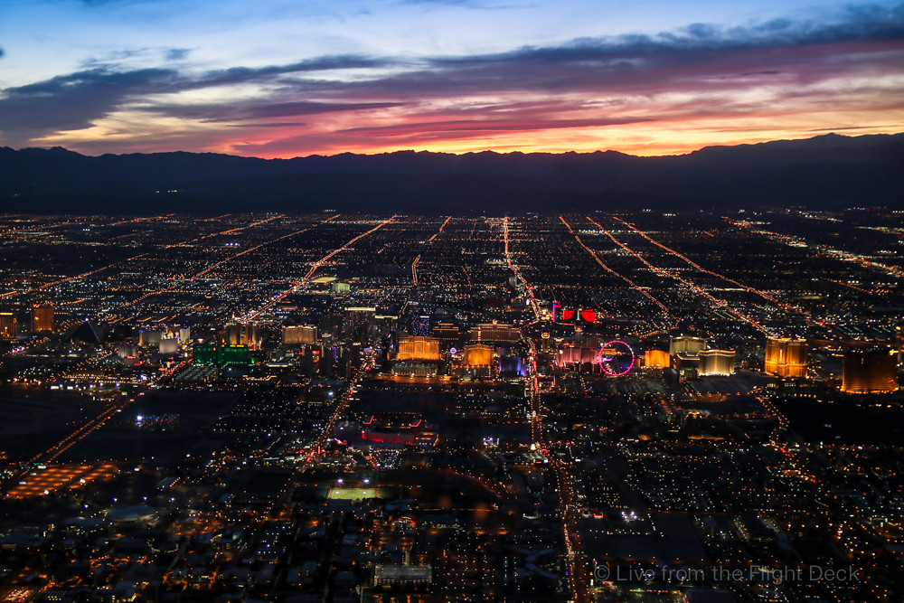 Las Vegas sunset from above