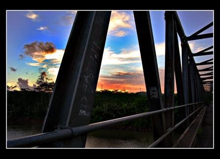 Jembatan Pancimas perbatasan Jawa Barat-Jawa Tengah di Kalipucang, Pangandaran