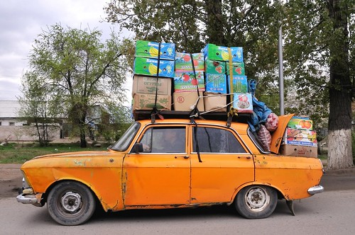Moskvich delivery, Almaty, Kazakhstan, April 16, 2008