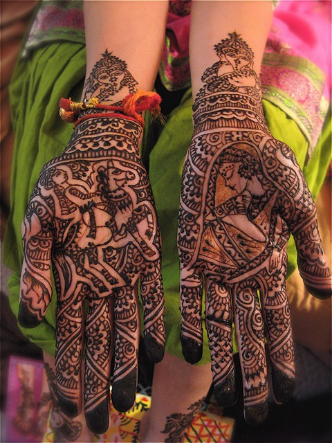 dulha dulhan design with horse