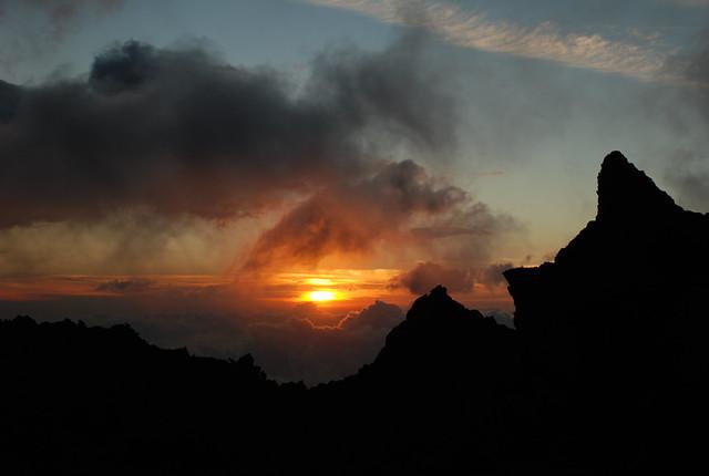 Sunset from Pacaya vulcano - Guatemala