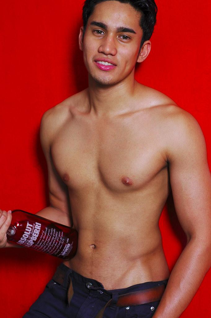 Smiling male nude models hard on remarkable
