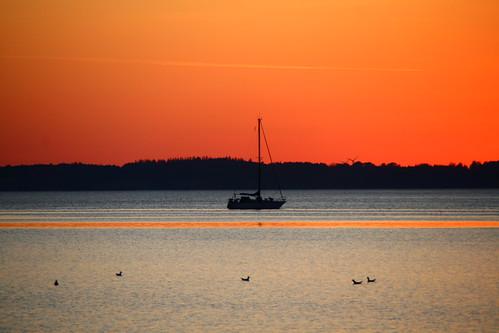 ocean sunset sea summer sun water denmark sommer solnedgang colorphotoaward uldbjerg
