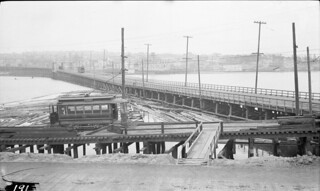 Streetcar on Stone Way Bridge, 1911