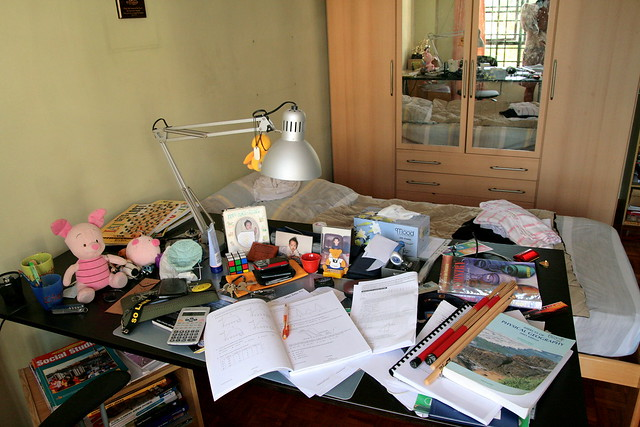 messy messy table | Flickr - Photo Sharing!
