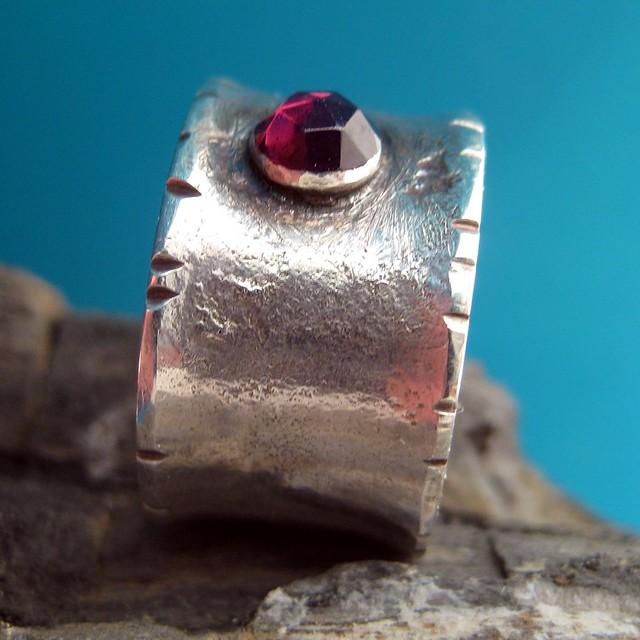 medieval rose garnet ring 5