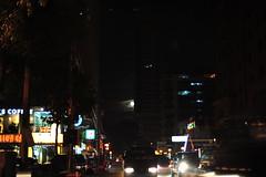 Moon between buildings in UN Avenue 1