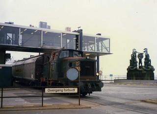 Jernbanefærge Helsingør - Helsingborg. The former rail ferry July 1986