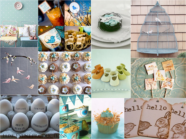 luxe style baby shower baby bird theme flickr photo sharing